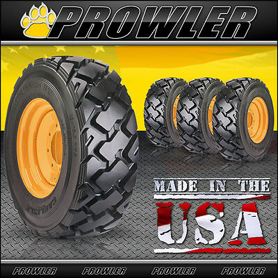 12x16.5 Ultra Guard MX Skid Steer Tires and Wheels - Set of 4, Carlisle, Case