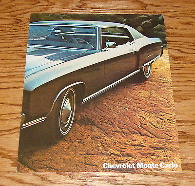 Original 1970 Chevrolet Monte Carlo Facts Features Sales Sheet Brochure 70 Chevy