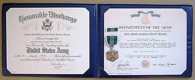 U.S. Army Commendation military medal with Ribbon w/ Certificate in Award Folder