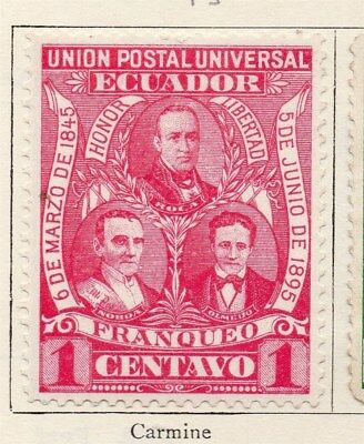 Ecuador 1895 Early Issue Fine Mint Hinged 1c. 090388