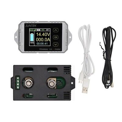 DC 120V 200A Wireless Volt Ammeter Power Meter battery Charge discharge capacity