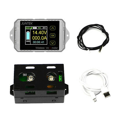 DC 120V 300A Wireless Volt Ammeter Power Meter battery Charge discharge capacity