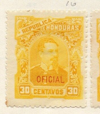 Honduras 1896 Early Issue Fine Mint Hinged 30c. Oficial Optd 090659