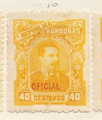 Honduras 1896 Early Issue Fine Mint Hinged 40c. Oficial Optd090660