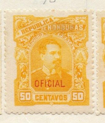 Honduras 1896 Early Issue Fine Mint Hinged 50c. Oficial Optd 090661