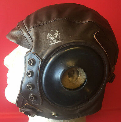 AAF A-11 Leather Flight Helmet New Reproduction size 7 3/8 (59 cm)