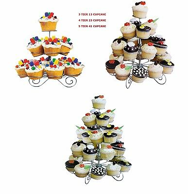 3/4/5 Tier 13/23/41 Cupcake Stand Table Decoration Birthday Party Cake Holder