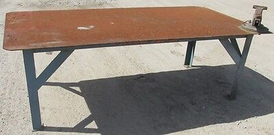 "Steel Work Bench Welding Table 4' x 8' x 31-1/2"" 2458 WVS"