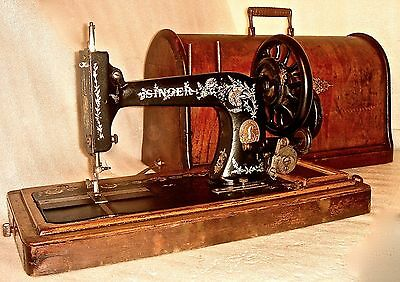 1906 Rare Ottoman Carnation Decorated Antique Singer 48K Sewing Machine