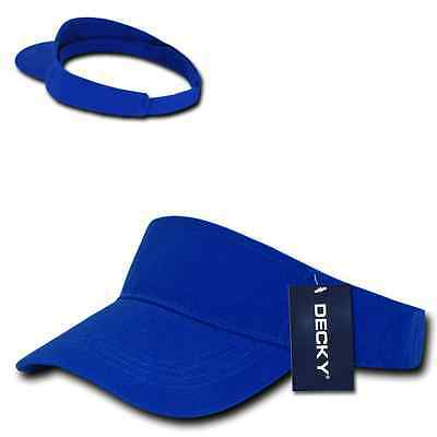 Royal Blue Brushed Cotton Golf Tennis Plain Blank Adjustable Sun Visor Cap  Hat 2ba4f7d817cc