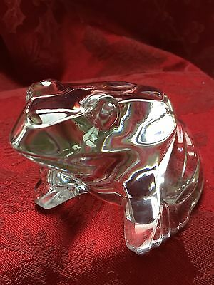 *BLING's GENTLY Used* BACCARAT Crystal BULL FROG TOAD Paperweight Figurine