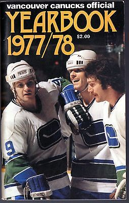 Vintage 1977-78 Vancouver Canucks Official Yearbook NHL