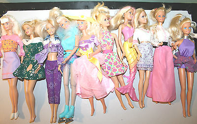 Barbie Doll Lot of 10 with Clothing-I