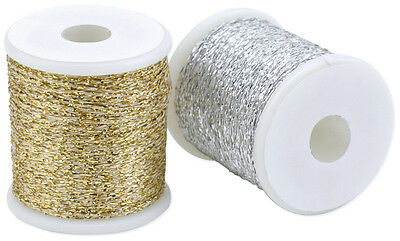 """""""Poly Sparkle Thread 1mmX49'-Silver, Set Of 3"""""""
