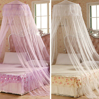 House Bedding Decor Summer Sweet Style Lovely Round Bed Canopy Dome Mosquito Net
