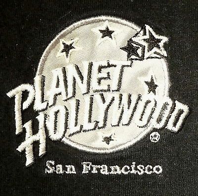 Vintage Planet Hollywood T-Shirt Tee Embroidered Applique Size XL Classy!
