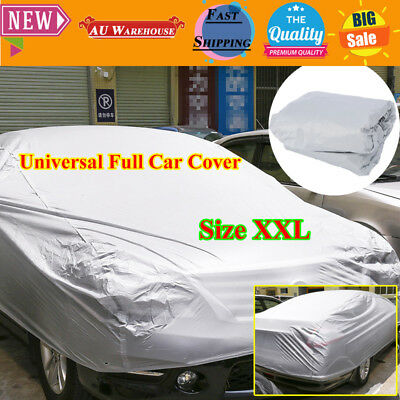 New Universal Full Car Cover Anti Waterproof Dust Scratch UV Resistant Size XXL