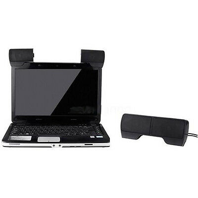 Clip-on Mini Portable USB Stereo Speaker Soundbar for Notebook Laptop Phone PC