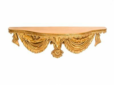 Shelf wall shelf console 93cm gold ornaments in antique style corbel