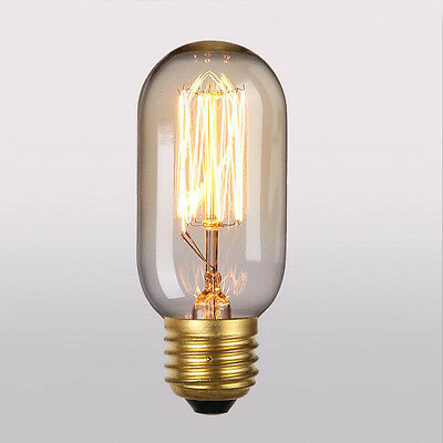 40W Vintage Antique Retro Style Filament Edison Incandescent Bulb T45 Decor Lamp