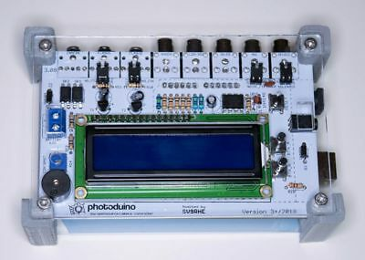 Photoduino assembled with Case and Arduino board - digital camera shield 3.0+