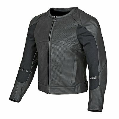 Speed & Strength Mens Full Battle Rattle Armored Leather Sportbike Riding Jacket