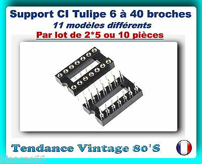 *** Lot Au Choix De 2*5 Ou 10 Support Ci Tulipe De 6 A 40 Broches ***