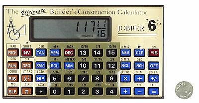 Jobber 6 Advanced Construction Calculator with CR2016 Battery