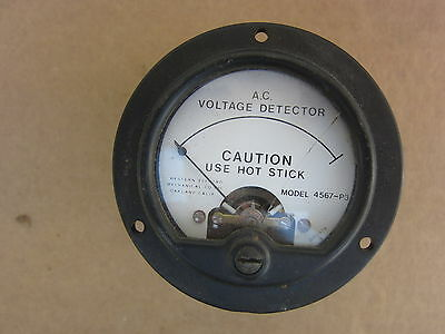 Western Electro 45657-P3 Voltage Detector Gauge Meter, Cracked, Used