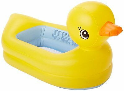 Munchkin White Hot Inflatable Duck Tub - Makes Big Baths Comfortable for Kids