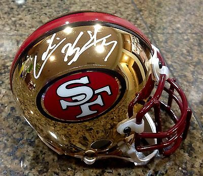 Colin Kaepernick Chrome 49ers Mini Helmet PSA DNA - Limited Edition of 2000