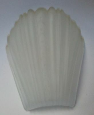 Vintage 1930's Art Deco Sconce Frosted Glass Slip Shade