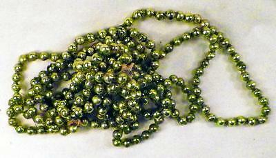 Vintage Christmas Tree Garland Mercury Glass Green Blue Feather 103in #64