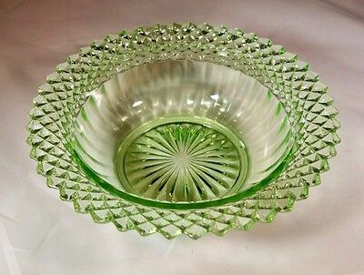 "Hocking Glass Co. Miss America Green 4-1/2"" Diameter Small Berry Fruit Bowl!!"