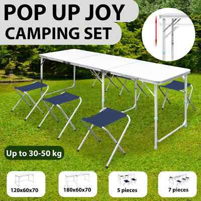 Outdoor 5 Model Camping Adjustable Table Chair Folding Picnic Garden BBQ Party