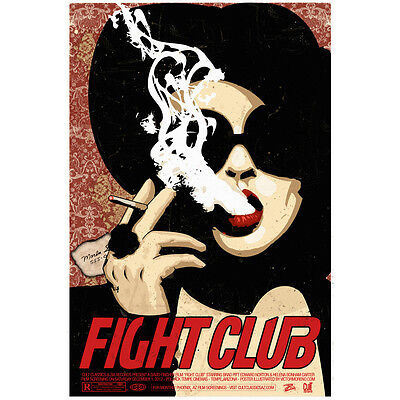 Fight Club Brad Movie Vintage Silk Poster Print 13x20 24x36 inch 034