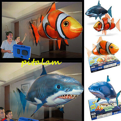 AUS Air Swimmer Remote Control RC Flying Inflatable Fish Shark Blimp Balloon TOY