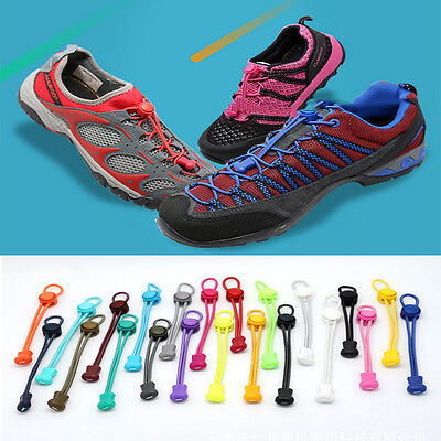 Jogging Elastic No Tie Locking Shoelaces Trainer Running Athletic Shoe Laces