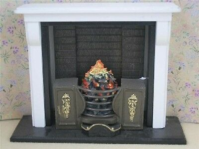 Dolls House Miniature 1/12th Scale Victorian Style Kitchen Range /Fireplace
