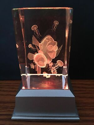 Finding Nemo 3D Laser Crystal With Led Colour Change Base Night Light
