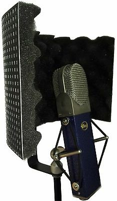 Black Microphone Shield Isolation Reflection Filter Screen Portable Vocal Booth