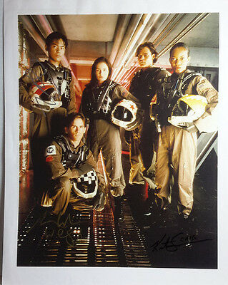 SPACE:Above & Beyond Autograph 8x10 Photo signed by 3 Cast- FREE S&H (LHAU-770)