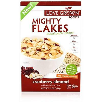 Love Grown Foods 12 Ounce Mighty Cranberry Almond Flakes Cereal