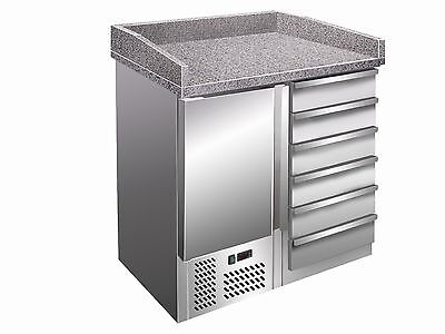 Pizzastation B 955 x T 700 H 1020mm Pizza Table Cabinet Work 6 Compartments