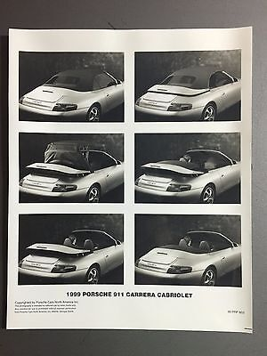 1999 Porsche 911 Carrera Cabriolet B&W Press PCNA Issued Photo RARE Awesome L@@K
