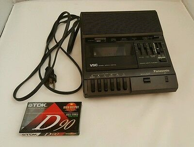 Panasonic RR-830 VSC Standard Cassette Transcriber Dictation Machine Tested