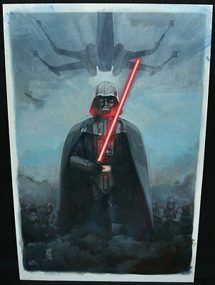 Star Wars: Vader Down #1 Painted Variant Cover - 2015 Signed art by Alex Maleev