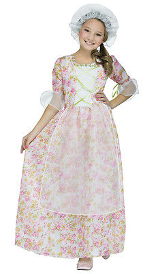 Colonial Lady Marth Washington Betsy Ross Independance Play Girl's Child Costume