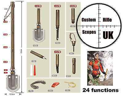 Military multi Survival Spade shovel survival tool Camping Outdoor ( 24 in one )