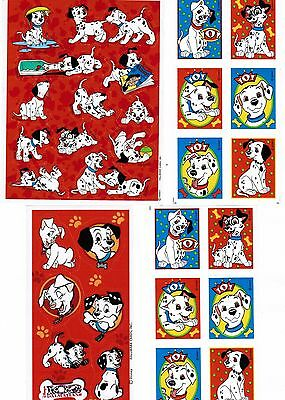 4 Sheets DISNEY 101 102 Dalmatians DOG Puppy Stickers!